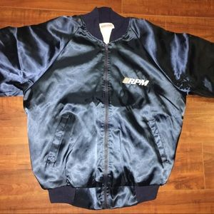 Vintage 80s Harwell RPM Racing Satin Bomber Jacket